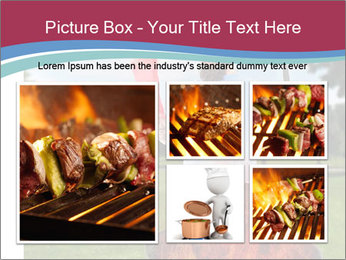A man grilling with a fire that's too big PowerPoint Template - Slide 19