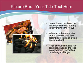 A man grilling with a fire that's too big PowerPoint Templates - Slide 20