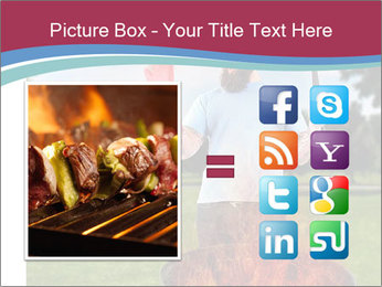 A man grilling with a fire that's too big PowerPoint Template - Slide 21