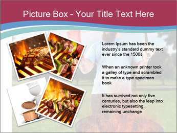 A man grilling with a fire that's too big PowerPoint Template - Slide 23