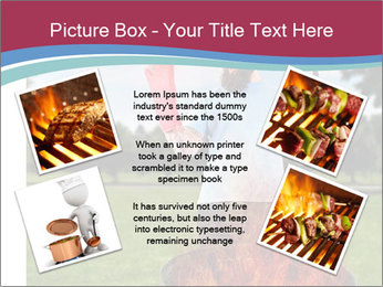 A man grilling with a fire that's too big PowerPoint Template - Slide 24