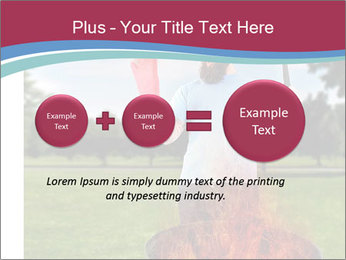 A man grilling with a fire that's too big PowerPoint Template - Slide 75