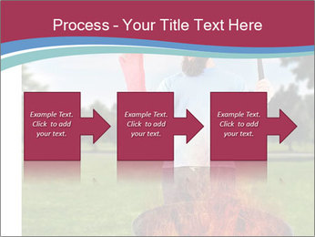 A man grilling with a fire that's too big PowerPoint Templates - Slide 88