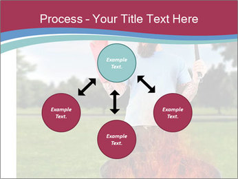 A man grilling with a fire that's too big PowerPoint Template - Slide 91