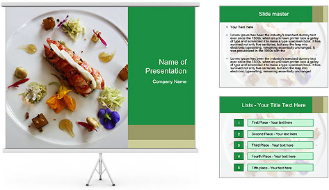Lobster dish PowerPoint Template