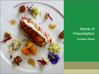 Lobster dish PowerPoint Template - Slide 1