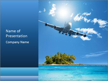 Tropical vacation PowerPoint Templates - Slide 1