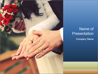 Wedding photos in retro style PowerPoint Template - Slide 1
