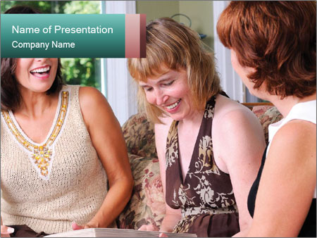 Group Of Middle Age Friends PowerPoint Templates