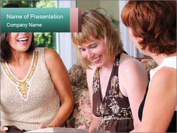 Group Of Middle Age Friends PowerPoint Template