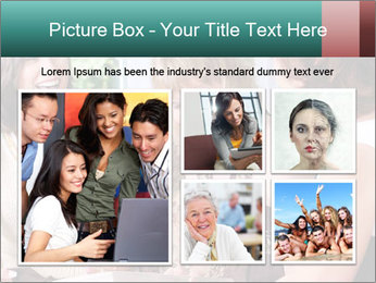 Group Of Middle Age Friends PowerPoint Templates - Slide 19