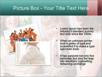 Group Of Middle Age Friends PowerPoint Templates - Slide 20