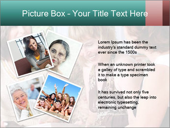 Group Of Middle Age Friends PowerPoint Templates - Slide 23