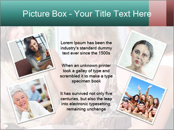 Group Of Middle Age Friends PowerPoint Templates - Slide 24