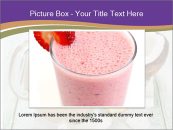 Smoothies with coconut milk and banana PowerPoint Template - Slide 15