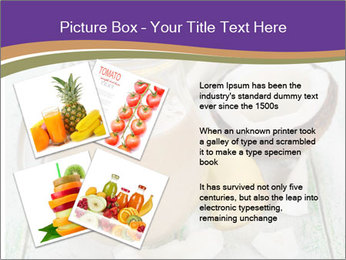 Smoothies with coconut milk and banana PowerPoint Template - Slide 23