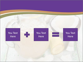 Smoothies with coconut milk and banana PowerPoint Template - Slide 95