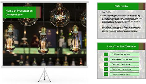 Vintage Lighting decor PowerPoint Template