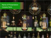 Vintage Lighting decor PowerPoint Templates