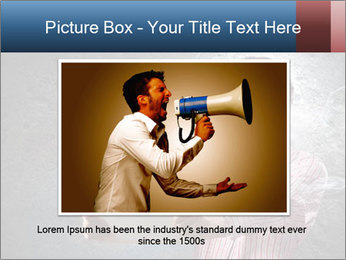 Young man looking shocked in pc PowerPoint Templates - Slide 15