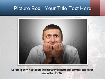 Young man looking shocked in pc PowerPoint Templates - Slide 16