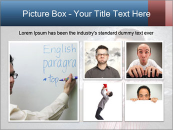 Young man looking shocked in pc PowerPoint Templates - Slide 19