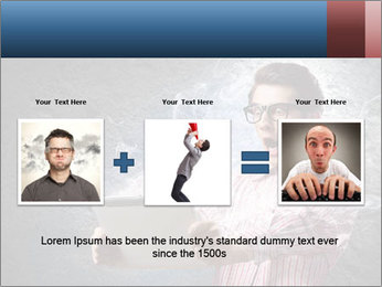 Young man looking shocked in pc PowerPoint Templates - Slide 22