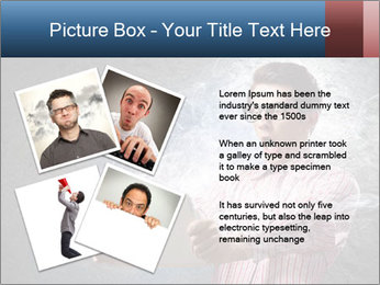 Young man looking shocked in pc PowerPoint Templates - Slide 23