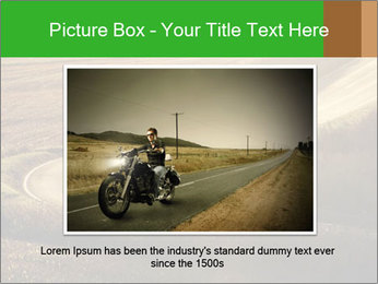 Motorcycle on countryside road PowerPoint Template - Slide 16