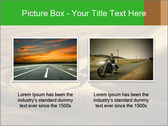 Motorcycle on countryside road PowerPoint Template - Slide 18