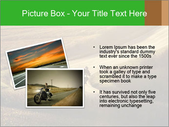 Motorcycle on countryside road PowerPoint Template - Slide 20