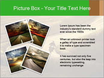 Motorcycle on countryside road PowerPoint Template - Slide 23