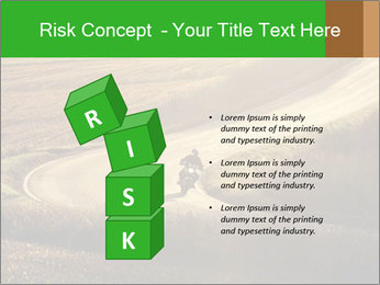 Motorcycle on countryside road PowerPoint Template - Slide 81
