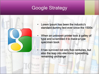 Row of newspapers PowerPoint Template - Slide 10