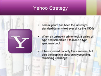 Row of newspapers PowerPoint Template - Slide 11