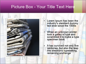 Row of newspapers PowerPoint Template - Slide 13