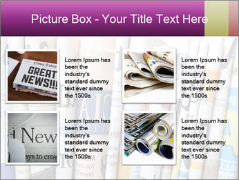 Row of newspapers PowerPoint Template - Slide 14