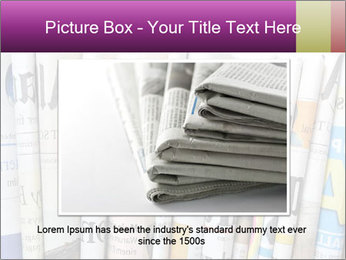 Row of newspapers PowerPoint Template - Slide 15