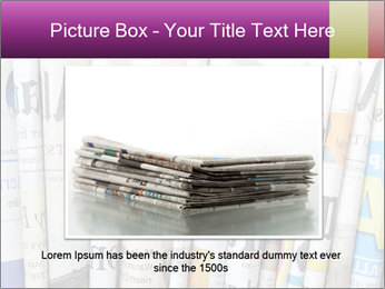 Row of newspapers PowerPoint Template - Slide 16
