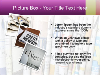 Row of newspapers PowerPoint Template - Slide 17