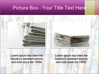 Row of newspapers PowerPoint Template - Slide 18