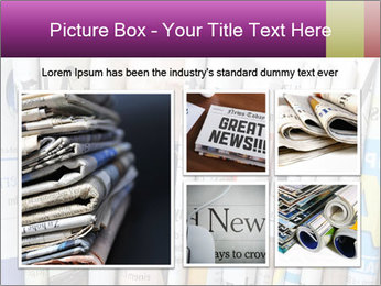 Row of newspapers PowerPoint Template - Slide 19