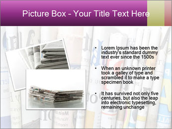 Row of newspapers PowerPoint Template - Slide 20