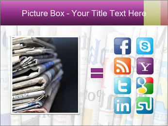 Row of newspapers PowerPoint Template - Slide 21
