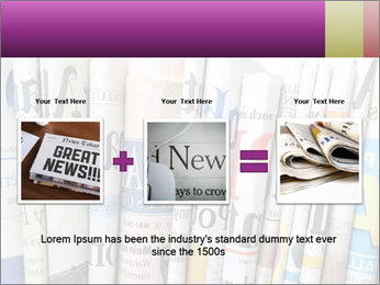 Row of newspapers PowerPoint Template - Slide 22
