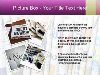Row of newspapers PowerPoint Template - Slide 23