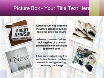 Row of newspapers PowerPoint Template - Slide 24