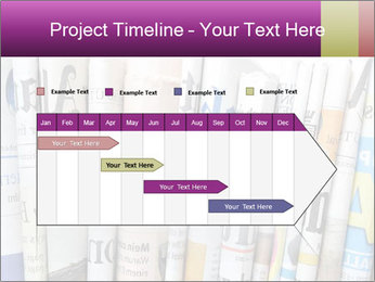 Row of newspapers PowerPoint Template - Slide 25