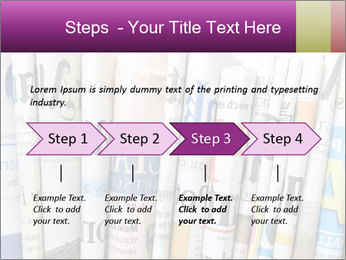 Row of newspapers PowerPoint Template - Slide 4