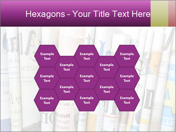 Row of newspapers PowerPoint Template - Slide 44